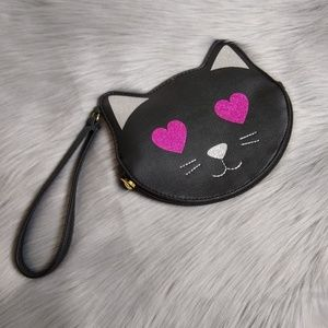 Luv Betsey Johnson kitty coin purse clutch